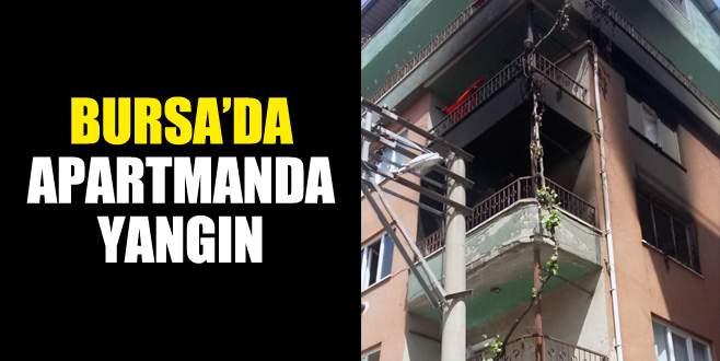 Bursa'da apartmanda yangın
