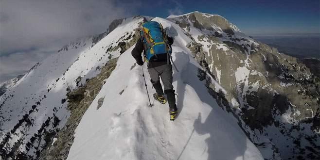Bursalı dağcılar 'Yunanistan'ın zirvesi'ne tırmandı