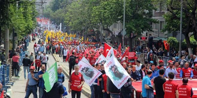 Bursa'da 1 Mayıs kutlamaları