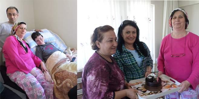Bursa'da engelli kıza anlamlı sürpriz