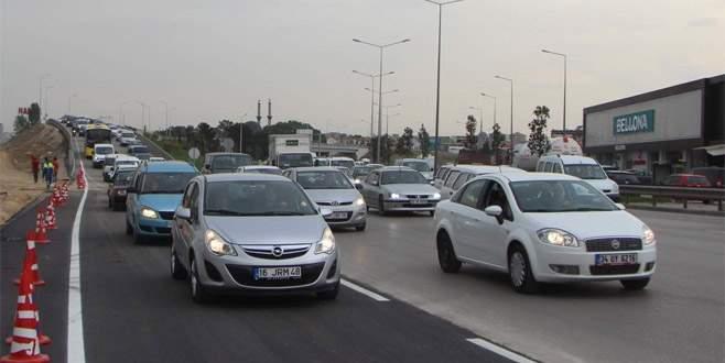 Mudanya yolunda ek şerit hizmete girdi