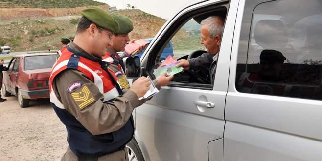 Jandarmadan Bursalı sürücülere uyarı