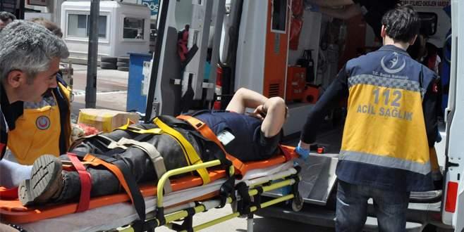 Bursa'da motosikletli kaza: 2 yaralı