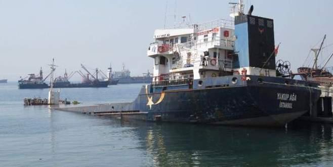 İstanbul'da kuru yük gemisi battı