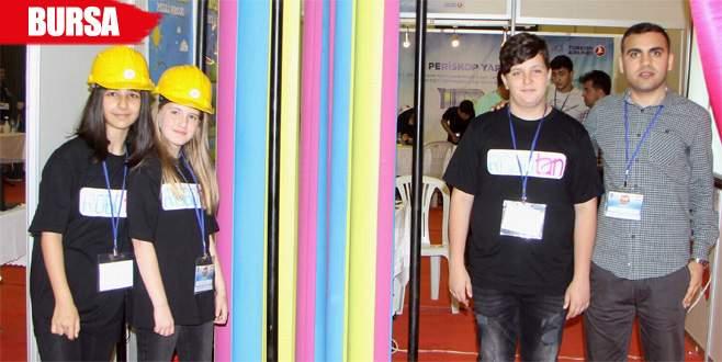 İlkokul öğrencileri, elektrik üreten santral yaptı