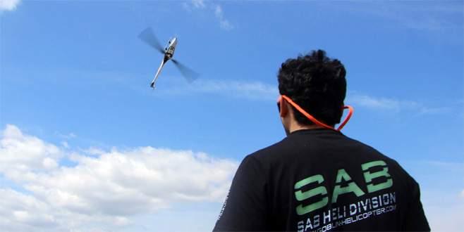 Bursa'da liseli öğrencilerin imal ettiği uçaklar havada kapıştı