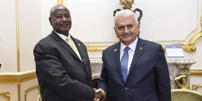Başbakan Yıldırım, Uganda Cumhurbaşkanı Museveni ile görüştü