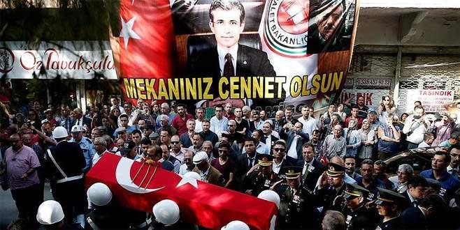 Şehit Başsavcı Mustafa Alper son yolculuğuna uğurlandı
