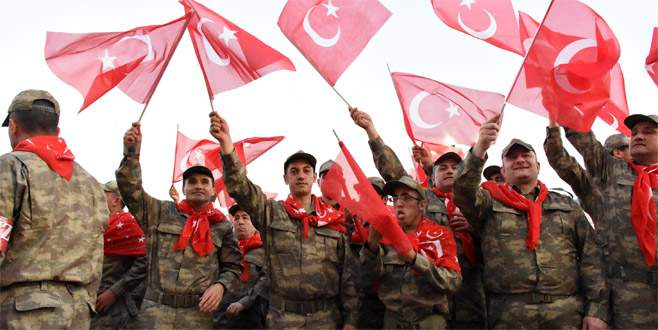 Ana kuzuları Bursa'da asker oldu