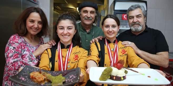 Genç aşçı adayları Bursa'nın gurur oldu