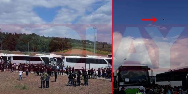 Beşiktaş taraftarına 'drone' ile arama
