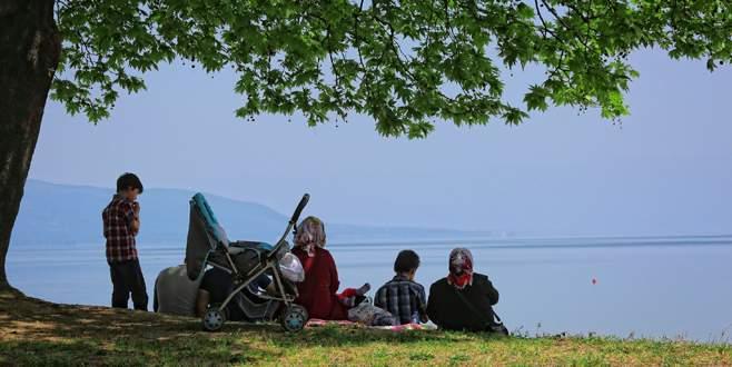 Şimdi İznik Gölü mevsimi