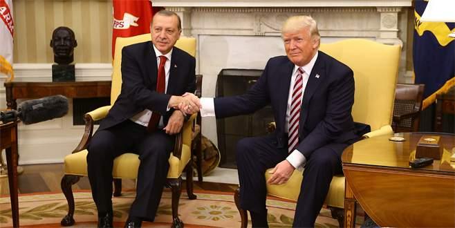 Cumhurbaşkanı Erdoğan-Trump görüşmesinden fotoğraflar
