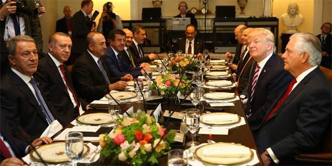Erdoğan ABD'de onuruna verilen öğle yemeğine katıldı