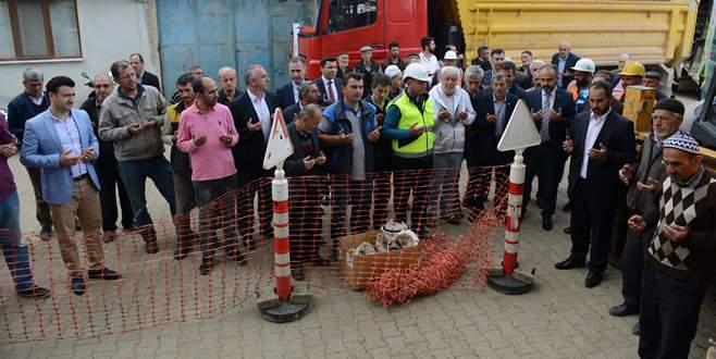 Çeltikçi'de doğalgaz çalışmaları başladı