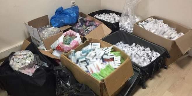 5 bin kutu kaçak vücut geliştirme ilacı ele geçirildi
