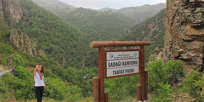Sadağı Kanyonu'na ziyaretçi akını