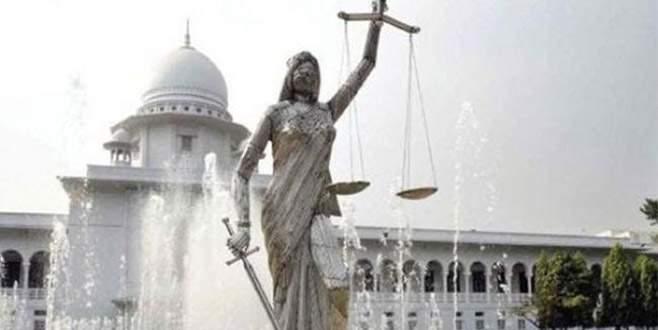 Adalet tanrıçası heykeli kaldırıldı