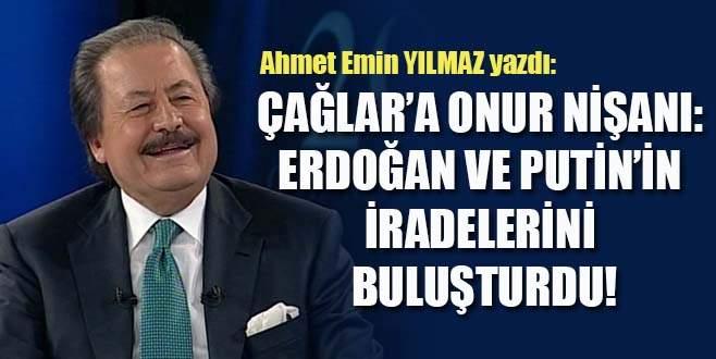 Çağlar'a Onur Nişanı: Erdoğan ve Putin'in iradelerini buluşturdu!