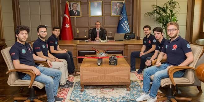 Bursa'yı göklerde temsil ediyorlar