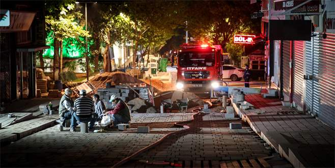 Peyzaj işçilerinin dikkati yangının büyümesini önledi