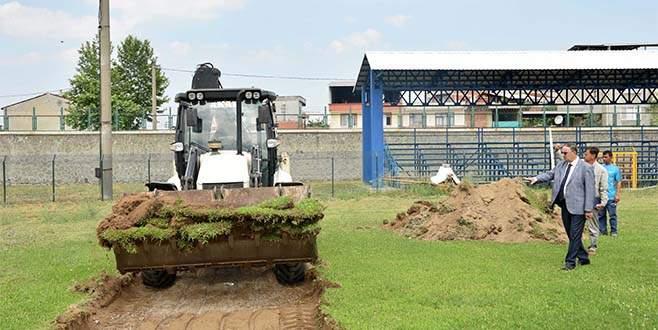 Mustafakemalpaşa Stadı yenileniyor