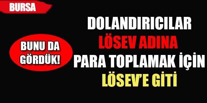 Dolandırıcılar LÖSEV adına para toplamak için LÖSEV'e gittiler
