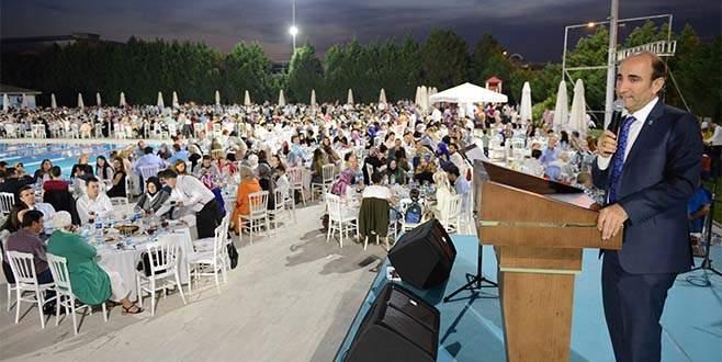 Yıldırım Belediye çalışanları iftar sofrasından buluştu