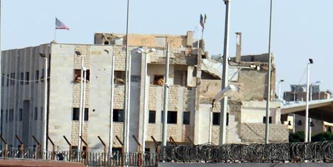 PKK/PYD binasına ikinci ABD bayrağı asıldı