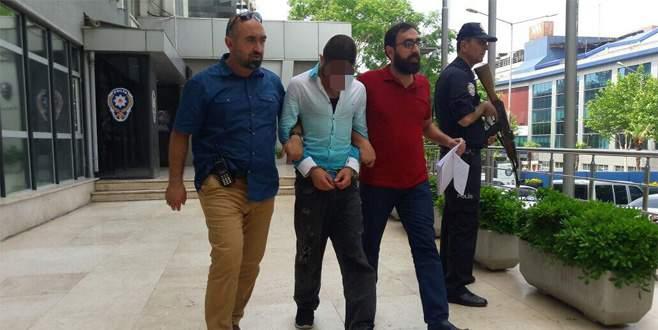 Bursa'da cep telefonu gaspçısı yakayı ele verdi
