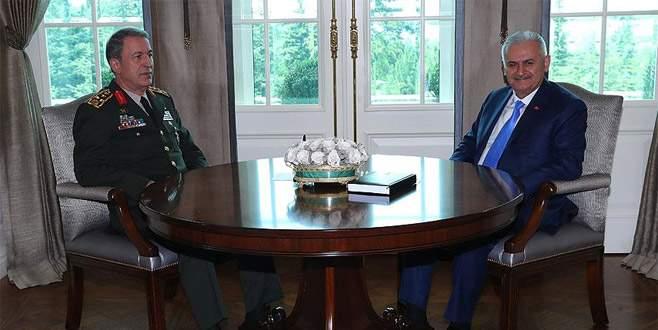 Başbakan Yıldırım, Orgeneral Akar'ı kabul etti