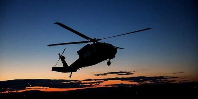 Teröristler askeri helikoptere roketatarla saldırdı