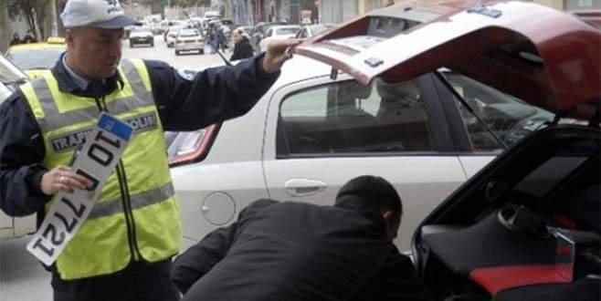 Standart dışı plakalara ceza yağdı