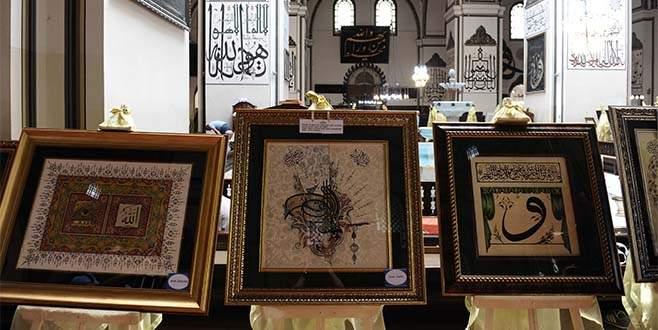 Ulu Cami içinde tezhip ve hat sergisi açıldı