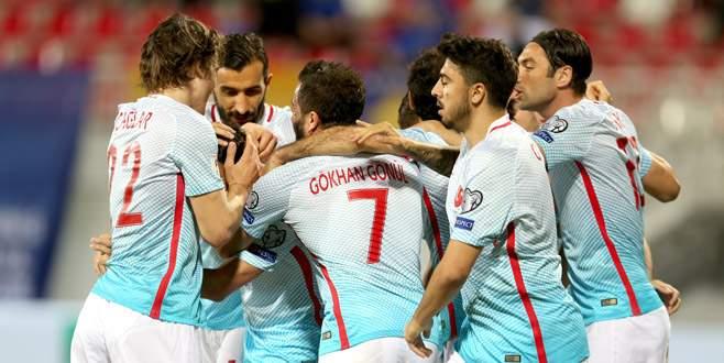 A Milli Futbol Takımı Kosova'yı farklı yendi
