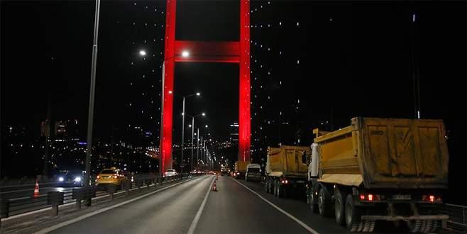 15 Temmuz Şehitler Köprüsü'ndeki çalışmalar başladı
