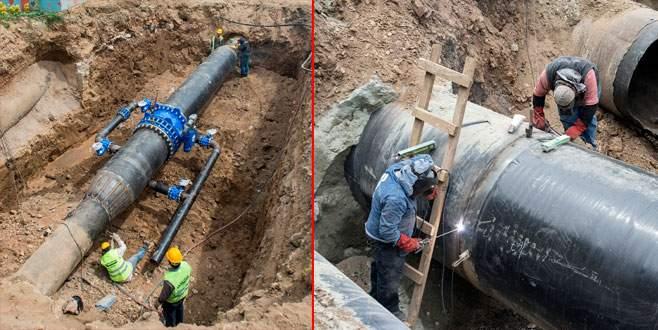Beş ayda 279 kilometrelik içme suyu hattı
