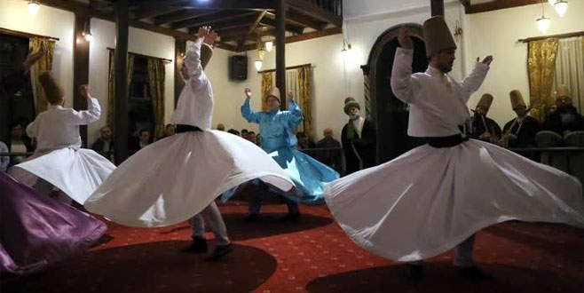450 yıllık binada semaya ramazanda yoğun ilgi