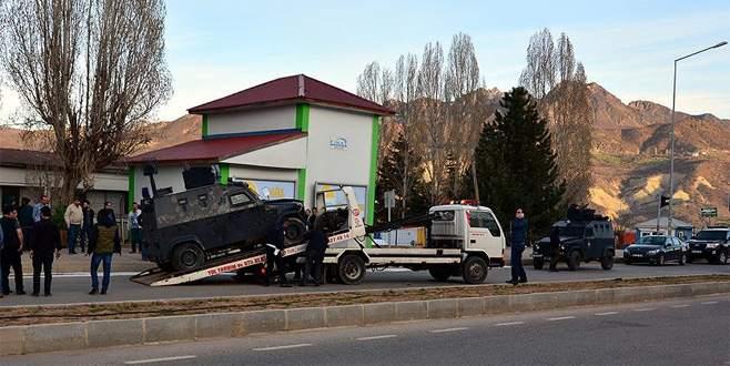 Şırnak'ta zırhlı polis aracı devrildi: 8 polis yaralı