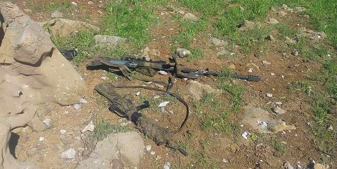 Hakkari'de keskin nişancı tüfeği ele geçirildi