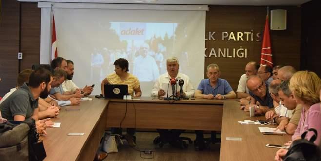 CHP Bursa'da 'Adalet' için yürüyecek