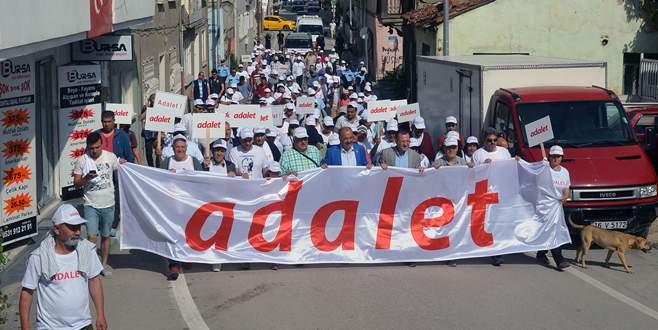 Adalet Yürüyüşü'ne Mudanya da katıldı