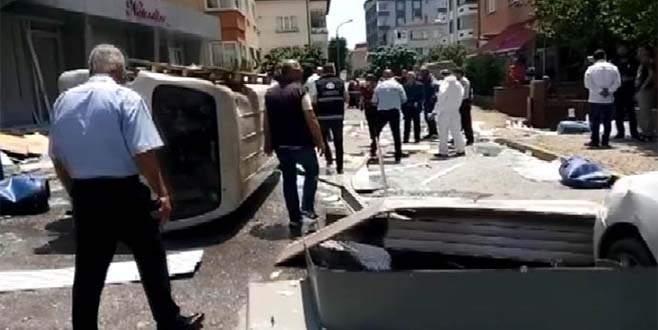 İstanbul'da bir iş yerinde korkutan patlama