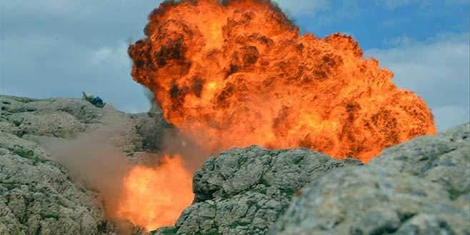 PKK'nın kullandığı mağara böyle imha edildi