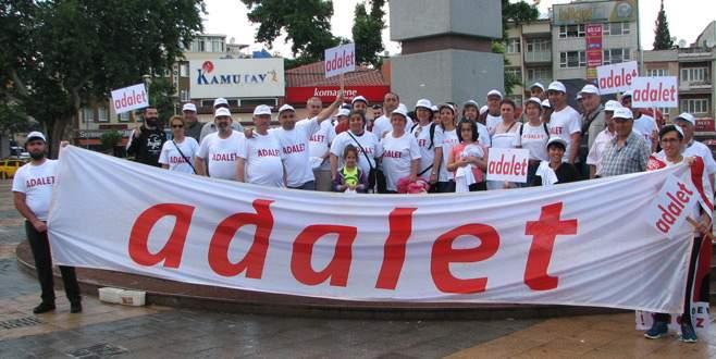 CHP Bursa örgütleri de yürüyüşe destek verdi