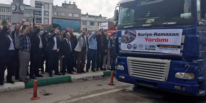 Kestel'den Suriye'ye yardım TIR'ı