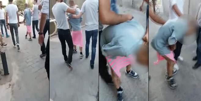 Etek giydirip döve döve sokakta dolaştırdılar