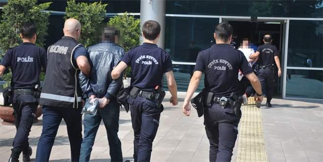 Bursa'da organize suç örgütü üyesi 3 kişi tutuklandı