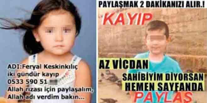 Sosyal medyada 'kayıp' ilanlarına dikkat!