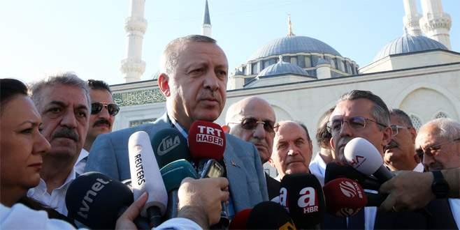 Cumhurbaşkanı Erdoğan bayram namazı sonrası konuştu
